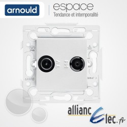 Prise TV-FM Blanc Arnould Espace Lumière