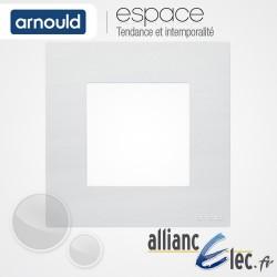 Plaque Blanc Lumière 1 poste Simple Arnould Espace
