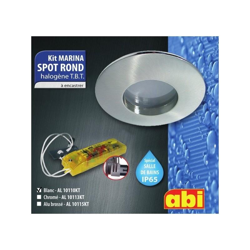 Kit spot abi rond blanc halog ne salle de bain a encastrer for Kit spot led salle de bain