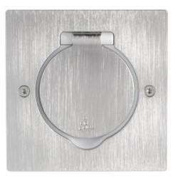 Réceptacle pour prise de sol carrée Arnould Finition Inox