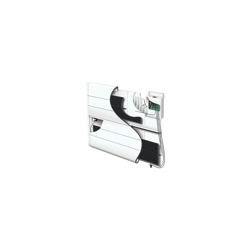 Radiateur atlantic kendo 1500w inertie alu digital blanc for Radiateur a inertie atlantic