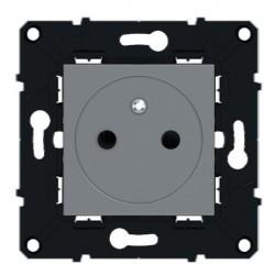 Prise 2P+T affleurante Bornes Automatiques 16 A Magnesium Arnould Evolution