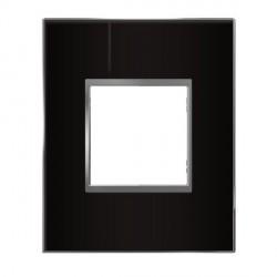 Plaque 1 Poste Espace Evolution Miroir Noir Arnould