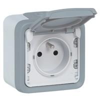 Prise de courant encastré étanche Plexo IP44 IK08 2P+T 20A Legrand 55703