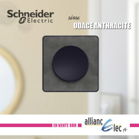 SCHNEIDER ODACE ANTHRACITE, NOUVELLE FINITION.