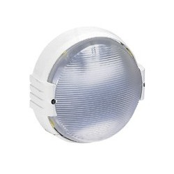 Hublot Rond Koro AntiVandale Lampe 100 W E27 Blanc IP54 / IK09 Legrand