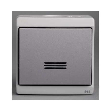 bouton poussoir lumineux gris schneider mureva enn35028. Black Bedroom Furniture Sets. Home Design Ideas