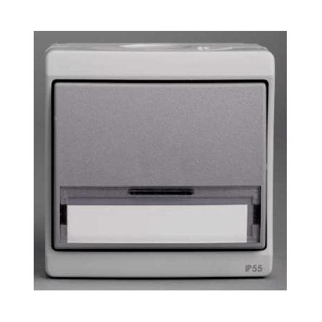 bouton poussoir porte etiquette gris schneider mureva enn35029. Black Bedroom Furniture Sets. Home Design Ideas