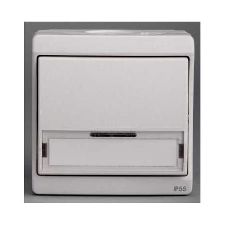 bouton poussoir porte etiquette blanc schneider mureva enn39029. Black Bedroom Furniture Sets. Home Design Ideas