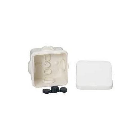 boite d rivation tanche 65x65x45 blanc a embouts 4 entr es. Black Bedroom Furniture Sets. Home Design Ideas