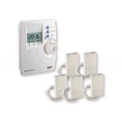 Programmateur et récepteurs Courant Porteur 3 zones pour chauffage électrique DeltaDore Pack driver 230 CPL