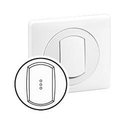 Enjoliveur Simple a Voyant CELIANE - IP 44 - pour Réf. 670 01/31 - Blanc Legrand