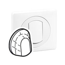 Enjoliveur Simple CELIANE - IP 44 - pour Sortie de Cable - Blanc Legrand