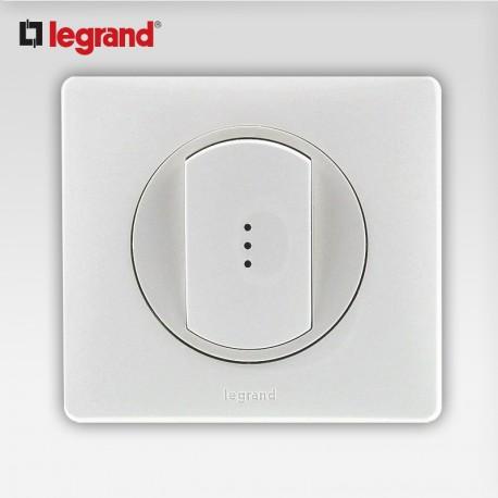 Va et vient a voyant Legrand celiane blanc complet