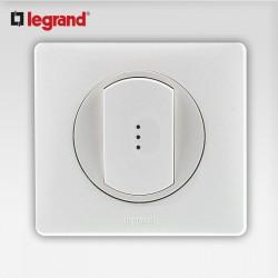 Poussoir inverseur a voyant Legrand celiane blanc complet