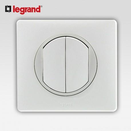 Va et vient poussoir inverseur Legrand celiane blanc complet