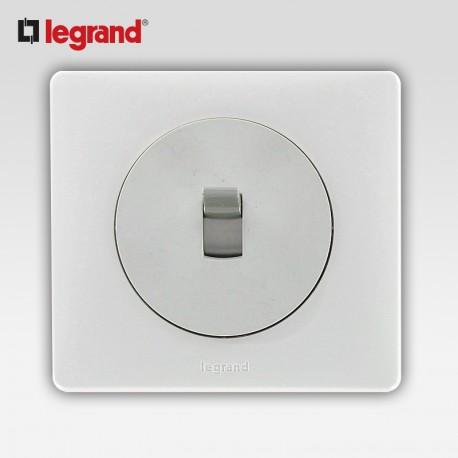 Poussoir inverseur a levier Legrand celiane blanc complet