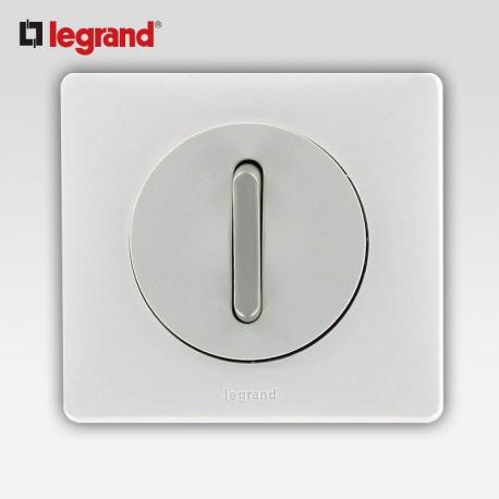 Poussoir inverseur silencieux voyant blanc Legrand celiane complet