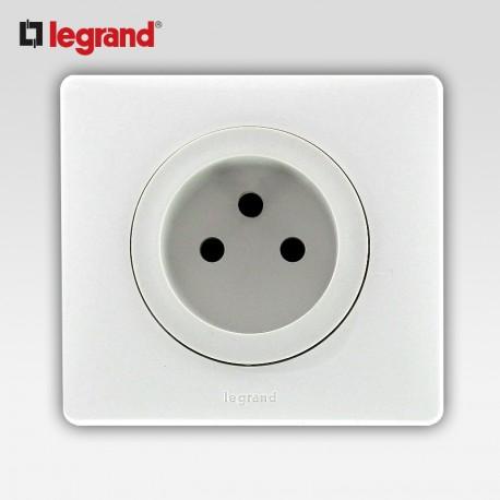 Prise de courant 2p Legrand celiane blanc complet avec support