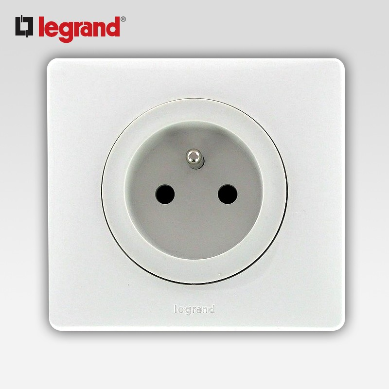 legrand celiane prise 2 p t pc blanc complet support