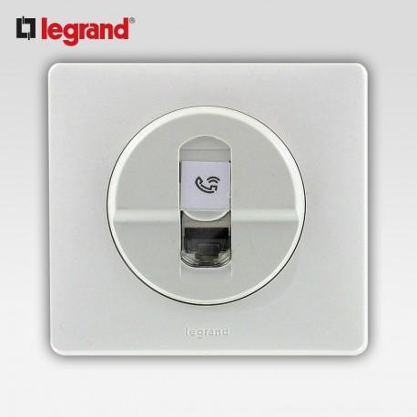 Prise rj 45 ftp cat6 Legrand celiane blanc complet