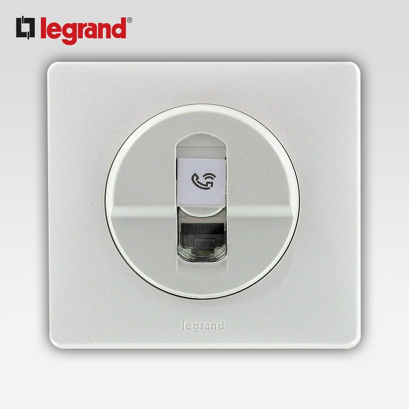 legrand celiane prise rj 45 cat 6 blanc complet support. Black Bedroom Furniture Sets. Home Design Ideas