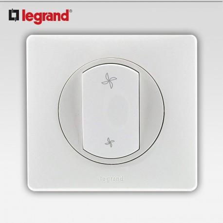 Commande vmc Legrand celiane blanc complet avec support