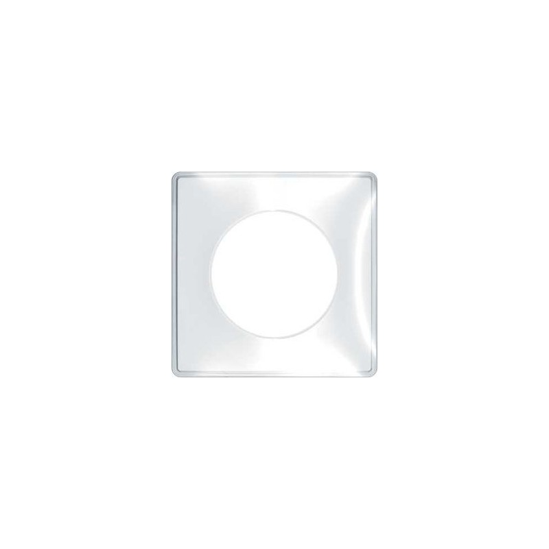 plaque you transparente 1 poste schneider odace support blanc. Black Bedroom Furniture Sets. Home Design Ideas