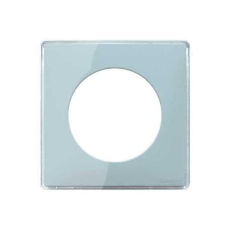 plaque you vert d 39 eau 1 poste schneider odace support blanc s520902y. Black Bedroom Furniture Sets. Home Design Ideas