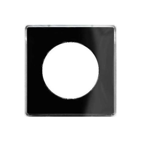 plaque you noir 1 poste schneider odace support blanc s520902z. Black Bedroom Furniture Sets. Home Design Ideas