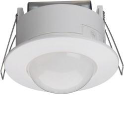Detecteur de Mouvement Infrarouge Plafond Semi-Encastre 360 Degres Blanc Hager
