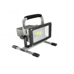 Projecteur LED 20W Portable Rechargeable Autonomie 24Heures 1800 Lumen Eurolite