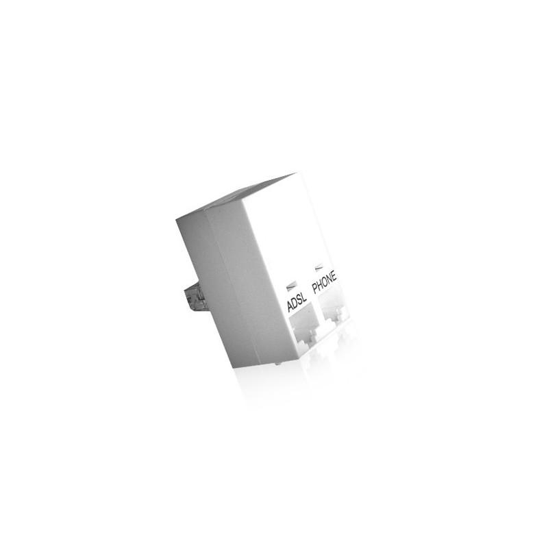 filtre adsl compact rj45 2x rj45 cahors 13p1520004. Black Bedroom Furniture Sets. Home Design Ideas