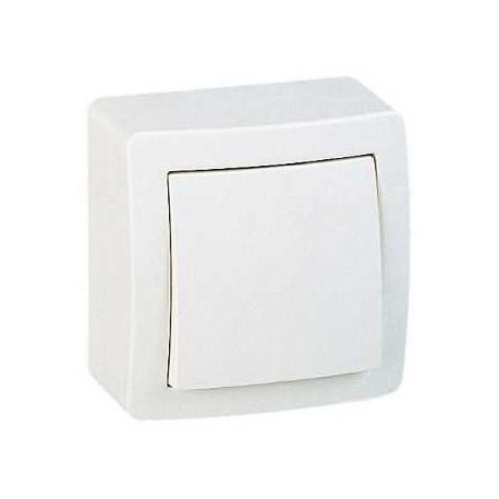 interrupteur simple allumage saillie schneider alr a blanc. Black Bedroom Furniture Sets. Home Design Ideas