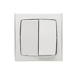 Interrupteur Double Va et vient Saillie Legrand Oteo Blanc Complet