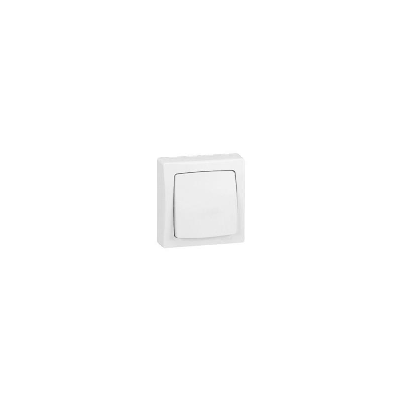 bouton poussoir saillie legrand oteo blanc complet 086006. Black Bedroom Furniture Sets. Home Design Ideas