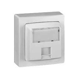 Prise Informatique RJ 45 cat. 6 FTP Saillie Legrand Oteo Blanc Complet