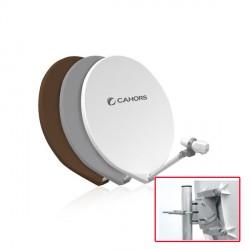 Parabole Fibre Cahors SMC CP 65 cm Grise Monture Composite