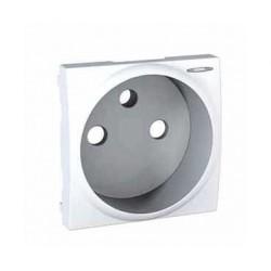 Enjoliveur Blanc Avec Voyant LED Pour Prise de Courant 2P+T Schneider Unica