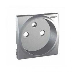 Enjoliveur Aluminium Avec Voyant LED Pour Prise de Courant 2P+T Schneider Unica