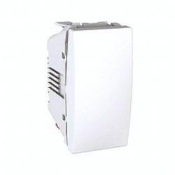 Poussoir a Fermeture 10A Connexion Rapide 1 Module - Blanc Schneider Unica