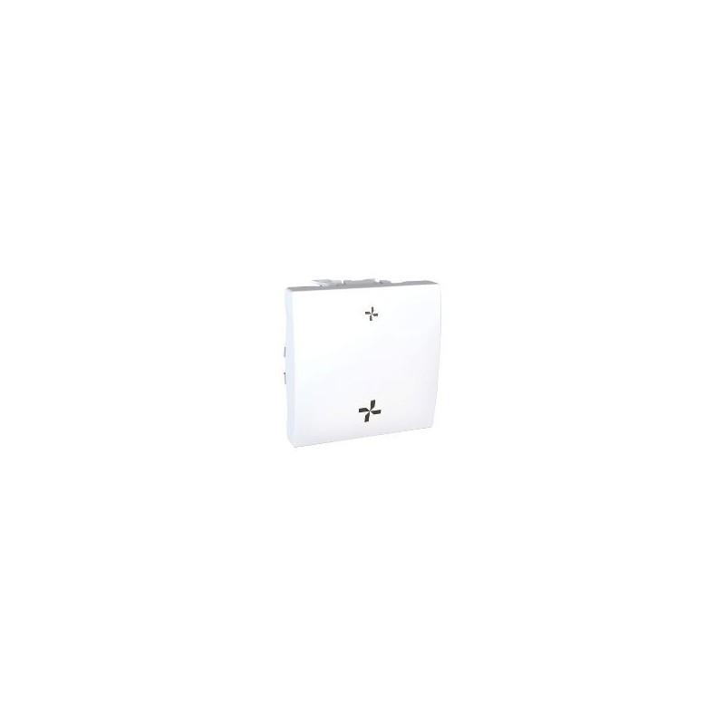 interrupteur vmc 2 vitesses sans position arr t 2 modules blanc. Black Bedroom Furniture Sets. Home Design Ideas