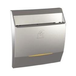 Interrupteur à carte 8 A Temporisé 1 NO avec Voyant de localisation - Aluminium Schneider Unica