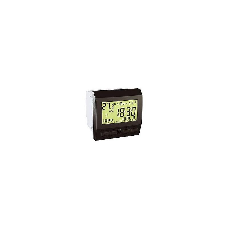 interrupteur horaire hebdomadaire 2 modules graphite. Black Bedroom Furniture Sets. Home Design Ideas