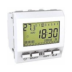 Interrupteur Horaire hebdomadaire 2 Modules - Blanc Schneider Unica