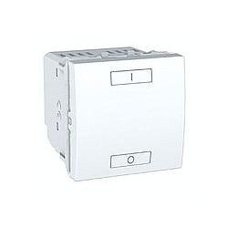 Combiné ON/OFF relais 2 ou 4 Boutons Sans Fil (RF) - Blanc Schneider Unica