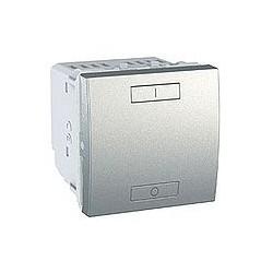 Combiné ON/OFF poussoir 2 ou 4 Boutons Sans Fil (RF) - Aluminium Schneider Unica
