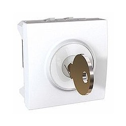 Interrupteur à clé 2 positions 10 A 2 Modules - Blanc Schneider Unica