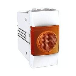 Voyant Lumineux Orange 220 VCA 1 Module - Blanc Schneider Unica