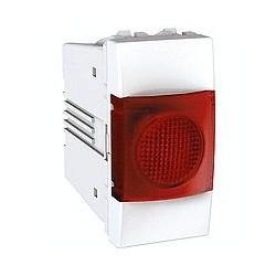 Voyant Lumineux Rouge 220 VCA 1 Module - Blanc Schneider Unica